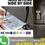 Troca de filtro de água para refrigeradores
