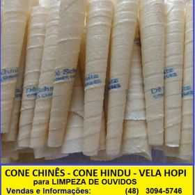 Cone Chinês, Cone Hindu, Vela Hopi e Canudo de Cera para limpeza dos ouvidos