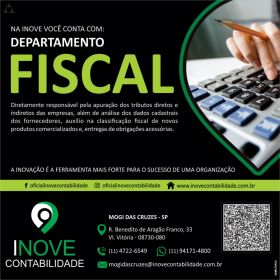 Departamento Fiscal Inove em Mogi das Cruzes