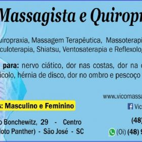 Massagem terapêutica para dor no nervo ciático em São José SC