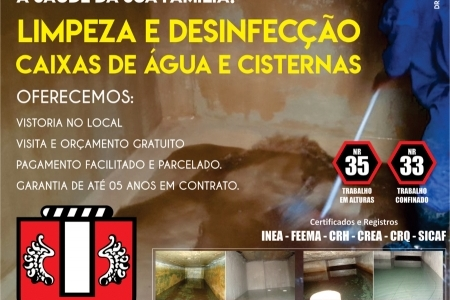 Limpeza e Impermeabilização caixas d'água cisternas