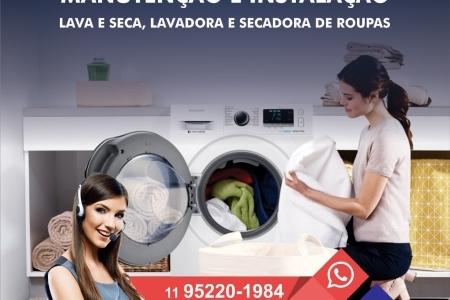Manutenção e Instalação lavadora, lava e seca, secadora