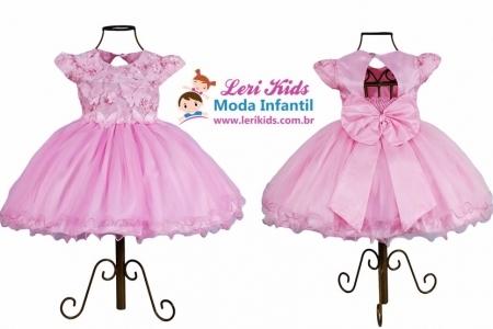 Vestido Luxo Festa Infantil Jardim Encantado 1,2,3,4 anos