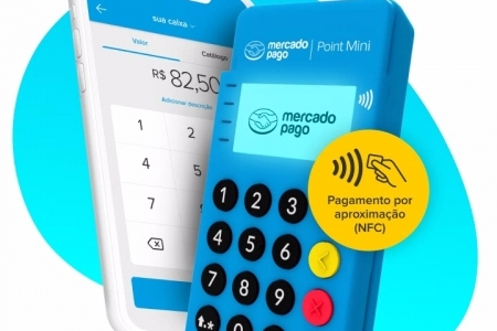 Maquininha Cartão Point Mini Aproximação - Novo Modelo Me30s Bluetooth